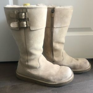 UGG Double Buckle Zip Up Boots